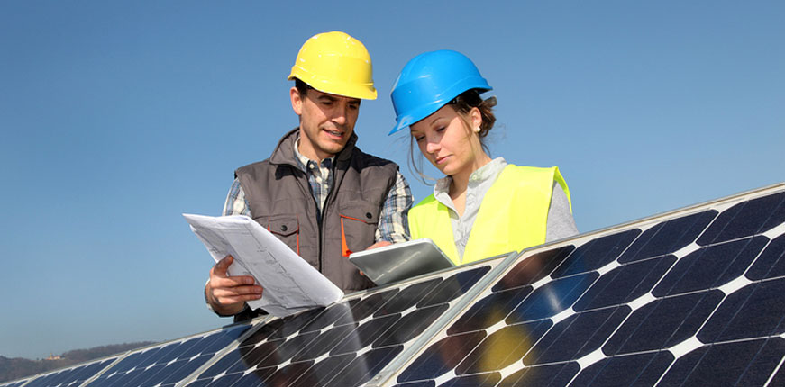 Producing electricity from solar energy